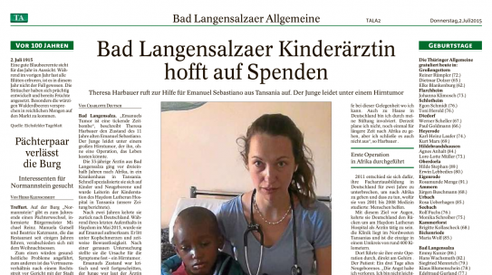 Bad Langensalza pediatrician hopes for donations